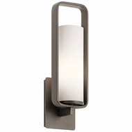 Kichler 43787OZ City Loft Contemporary Olde Bronze Wall Light Sconce