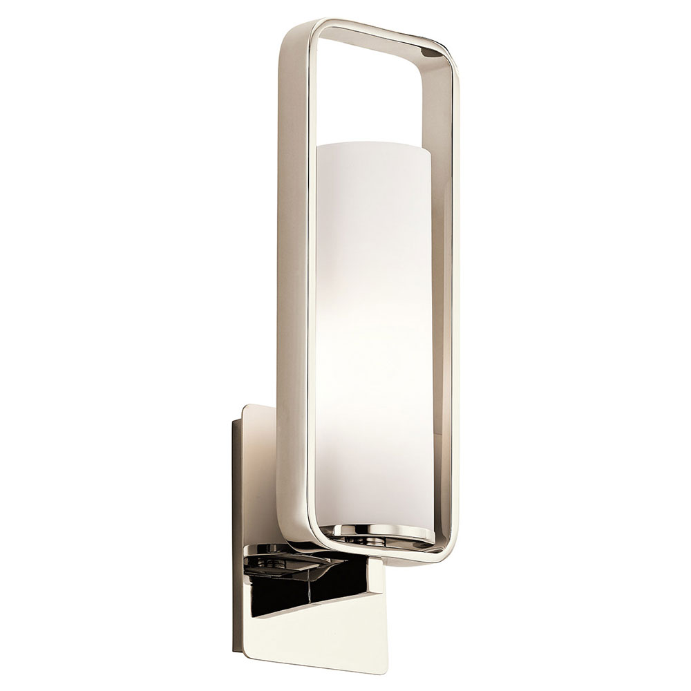 regina arc design lighting sconce andrew nickel wall polished