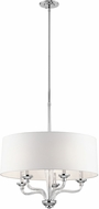 Kichler 43807CH Loula Modern Chrome Drum Pendant Light