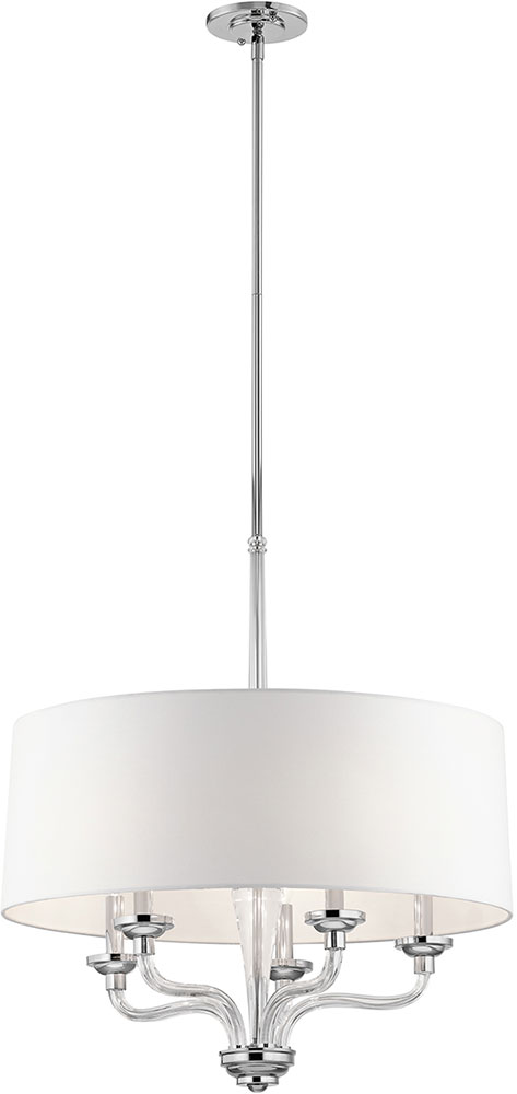 modern drum pendant lighting. kichler 43807ch loula modern chrome drum pendant light loading zoom lighting