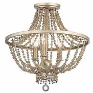 Kichler 43813SGD Birkdale Contemporary Sterling Gold Overhead Light Fixture