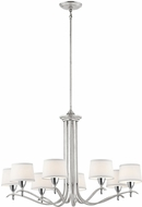 Kichler 43836SIL Cordova Contemporary Silver Leaf Ceiling Chandelier