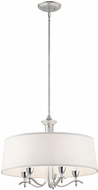 Kichler 43837SIL Cordova Modern Silver Leaf Drum Lighting Pendant