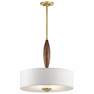 Kichler 43841NBR Lucille Natural Brass Drum Hanging Light