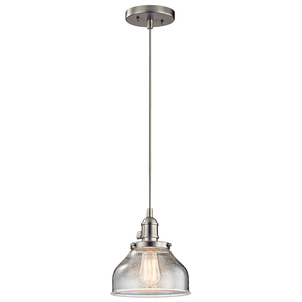 Kichler 43850ni avery brushed nickel mini pendant lighting fixture kichler 43850ni avery brushed nickel mini pendant lighting fixture loading zoom arubaitofo Image collections
