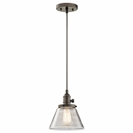 Kichler 43851OZ Avery Olde Bronze Mini Hanging Light Fixture