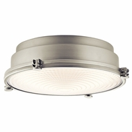 Kichler 43883NILED Hatteras Bay Brushed Nickel LED Flush Mount Light Fixture