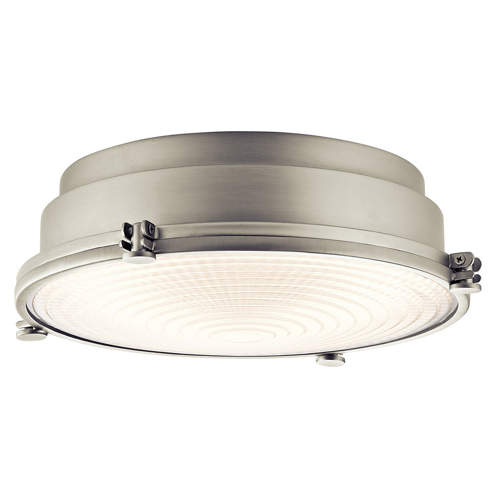 Kichler 43883niled hatteras bay brushed nickel led flush mount light kichler 43883niled hatteras bay brushed nickel led flush mount light fixture loading zoom arubaitofo Image collections
