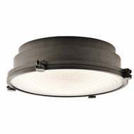 Kichler 43883OZLED Hatteras Bay Olde Bronze LED Flush Mount Lighting Fixture