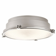 Kichler 43883PNLED Hatteras Bay Polished Nickel LED Flush Ceiling Light Fixture