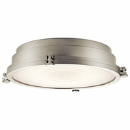 Kichler 43885NILED Hatteras Bay Brushed Nickel LED Flush Mount Ceiling Light Fixture