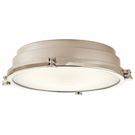 Kichler 43885PNLED Hatteras Bay Polished Nickel LED Overhead Light Fixture