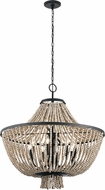 Kichler 43892DBK Brisbane Contemporary Distressed Black Chandelier Light