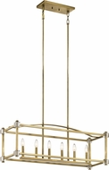 Kichler 43920NBR Cayden Natural Brass Kitchen Island Light Fixture