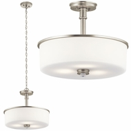 Kichler 43925NI Joelson Brushed Nickel Pendant Light Fixture / Ceiling Light Fixture