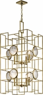 Kichler 43935NBR Vance Modern Natural Brass Foyer Lighting Fixture