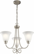 Kichler 43937NIL16 Bixler Brushed Nickel LED Mini Lighting Chandelier