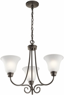 Kichler 43937OZ Bixler Olde Bronze Mini Chandelier Lamp