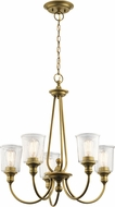 Kichler 43946NBR Waverly Contemporary Natural Brass Chandelier Lighting