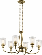 Kichler 43947NBR Waverly Contemporary Natural Brass Chandelier Lamp