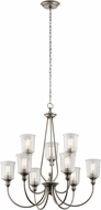 Kichler 43948CLP Waverly Modern Classic Pewter Chandelier Light