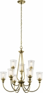 Kichler 43948NBR Waverly Contemporary Natural Brass Ceiling Chandelier