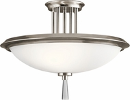 Kichler 43960CLP Dreyfus Contemporary Classic Pewter Flush Mount Lighting