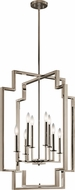 Kichler 43966PN Downtown Deco Contemporary Polished Nickel Foyer Light Fixture