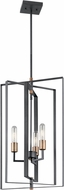 Kichler 43983BK Taubert Contemporary Black Foyer Lighting Fixture