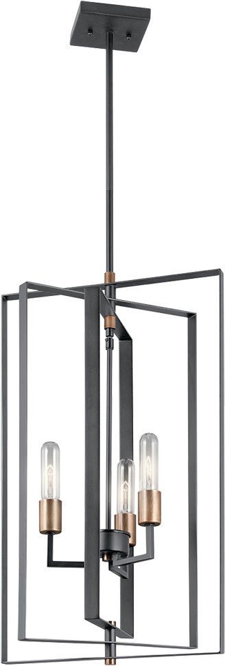 Kichler 43983bk Taubert Contemporary Black Foyer Lighting
