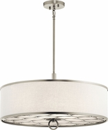 Kichler 43988NI Melrose Brushed Nickel Drum Drop Ceiling Light Fixture