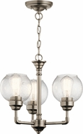 Kichler 43992AP Niles Contemporary Antique Pewter Mini Hanging Chandelier