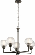 Kichler 43993OZ Niles Modern Olde Bronze Lighting Chandelier