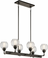 Kichler 43994OZ Niles Modern Olde Bronze Kitchen Island Light