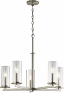 Kichler 43999NI Crosby Contemporary Brushed Nickel Chandelier Light