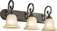 Kichler 45055OZL16 Monroe Olde Bronze LED 3-Light Bathroom Vanity Light Fixture