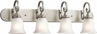 Kichler 45056NIL16 Monroe Brushed Nickel LED 4-Light Bathroom Wall Sconce