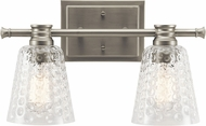 Kichler 45096NI Nadine Modern Brushed Nickel 2-Light Bathroom Light Sconce