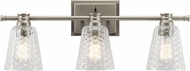 Kichler 45097NI Nadine Contemporary Brushed Nickel 3-Light Bathroom Lighting Sconce