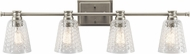 Kichler 45098NI Nadine Modern Brushed Nickel 4-Light Bathroom Sconce Lighting