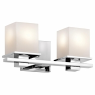 Kichler 45150CH Tully Contemporary Chrome Finish 6.5  Tall 2-Light Bath Lighting