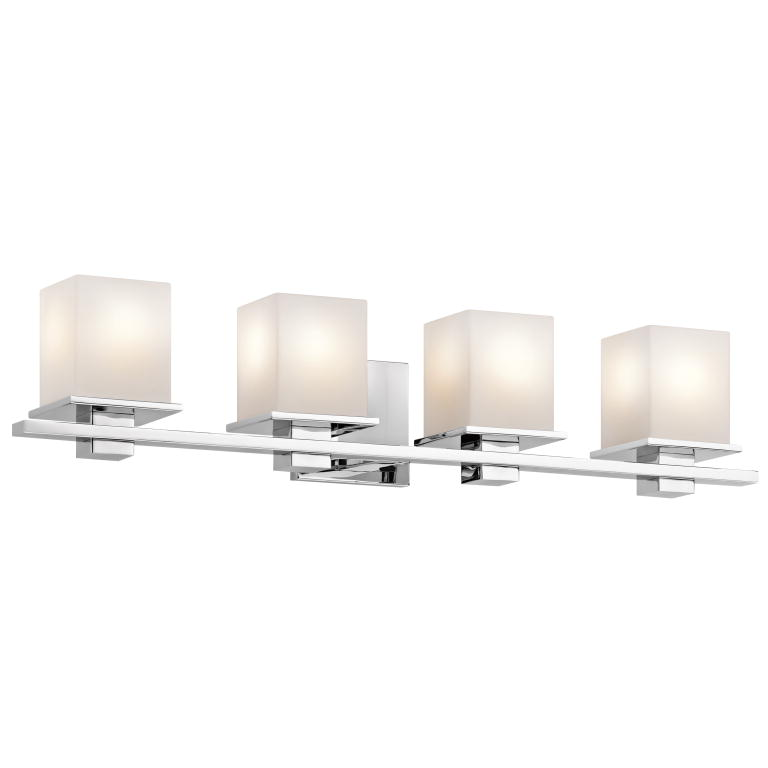 Kichler 45152ch Tully Contemporary Chrome Finish 6 5 Tall 4 Light Bathroom Lighting Fixture