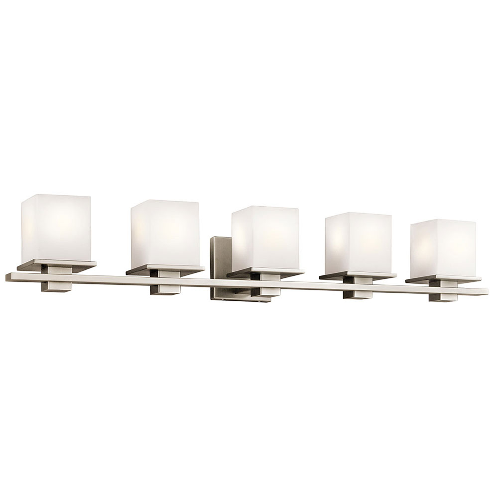 Kichler 45193ap tully antique pewter 5 light bathroom for 6 light bathroom vanity light
