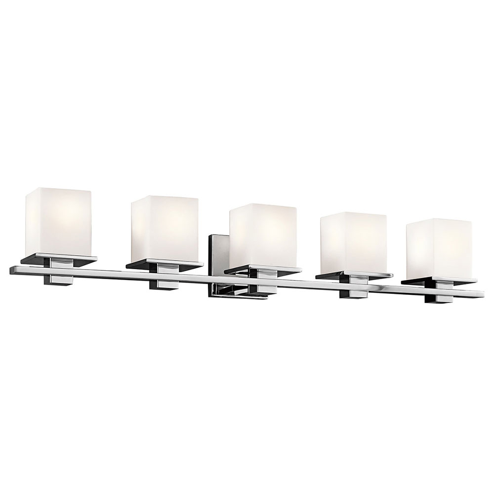 Kichler 45193ch tully chrome 5 light vanity lighting kic for 6 light bathroom vanity light