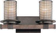 Kichler 45195AVI Ahrendale Contemporary Anvil Iron 2-Light Bath Lighting Sconce