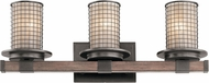 Kichler 45196AVI Ahrendale Modern Anvil Iron 3-Light Bathroom Wall Light Fixture