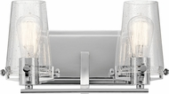 Kichler 45296CH Alton Modern Chrome 2-Light Lighting For Bathroom