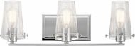 Kichler 45297CH Alton Modern Chrome 3-Light Bathroom Light