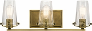 Kichler 45297NBR Alton Contemporary Natural Brass 3-Light Bathroom Lighting Fixture