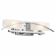 Kichler 45316CH Suspension Modern Chrome Finish 20  Wide 2-Light Vanity Lighting